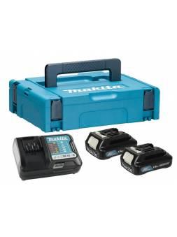 Комплект аккумулятор 12.0 В BL1016 2 шт. + зарядное устройство DC10WD в кейсе (Набор BL1016 12.0V 1,5 Ah 2 шт. + DC10WD) (MAKITA)