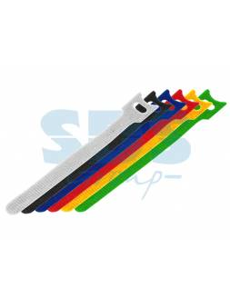 Набор хомутов многоразовых на липучке 210 x 16 мм, цветная (упак. 12 шт)  REXANT