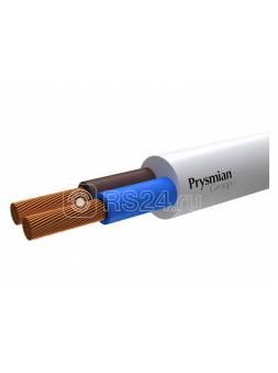 Провод ПВС 2х2,5 (бухта 100м) белый РЭК-PRYSMIAN (белый) (ЭС)