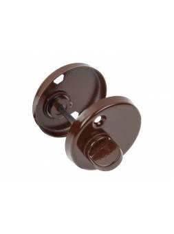 Накладка дверная на цилиндр WC (коричневый) (JANIA)