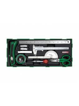 Набор-сет измерительного инструмента 11предм. TOPTUL (GTB1107)