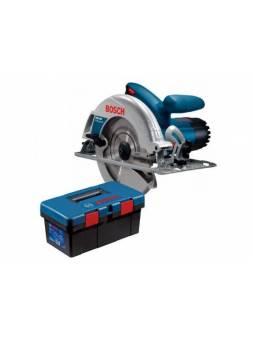 Циркулярная пила BOSCH GKS 190 в кор. + ящик для инструментов Toolbox PRO (1400 Вт, 190х30 мм, до 70 мм)