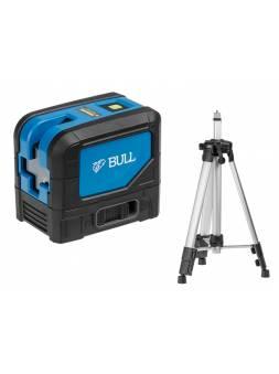 Нивелир лазерный линейный BULL LL 2301 P со штативом в кор. (проекция: 2 плоскости 120°,180°, до 30 м, +/- 0.3 мм/м, резьба 1/4
