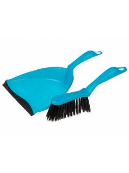 Щетка-сметка+ совок (набор для уборки), Solid (Солид), голубой, PERFECTO LINEA