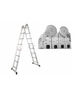 Лестница алюм. многофункц. 4х5 ступ. (стрем.-280см, лестн.-570см) 14,6кг STARTUL (ST9732-05) (усиленное шарнирное соединение)