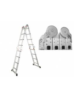 Лестница алюм. многофункц. 4х6 ступ. (стрем.-330см, лестн.-680см) 15,8кг STARTUL (ST9732-06) (усиленное шарнирное соединение)