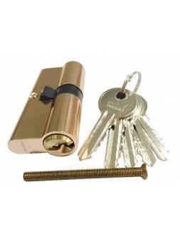 Евроцилиндр DORMA CBF-1 70 (35x35) латунь (английский ключ)