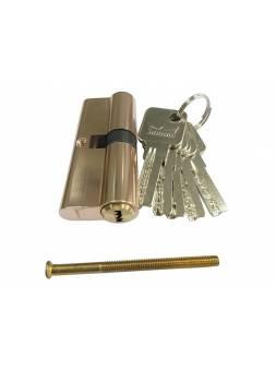 Евроцилиндр DORMA CBR-1 70 (35x35) латунь (перфорированный ключ)