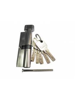 Евроцилиндр с вертушкой DORMA CBR-1 90 (50x40В) никель (перфорированный ключ)