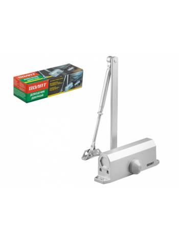 Доводчик дверной гидравлический (40-80 кг) серебро ВОЛАТ