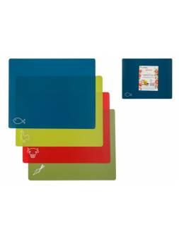 Доска разделочная 38.2х31см (L) c цветовым кодированием (набор из 4-х шт.), Handy, PERFECTO LINEA