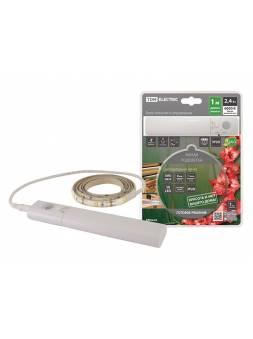 Подсветка умная SMD2835-30LED/m-IP20-5В-2,4Вт-6000К(1 м), датчик движ., 4хААА TDM