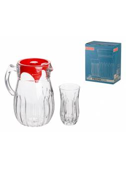Набор (1 кувшин 1,5 л + 6 стаканов 300 мл), Фрезия (Frechia), NORITAZEH