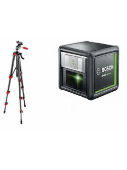 Нивелир лазерный BOSCH QUIGO Green со штативом и держателем в кор. (проекция: крест, до 12 м, +/- 0.80 мм/м, резьба 1/4