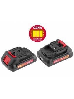 Аккумулятор WORTEX CBL 1820 18.0 В, 2.0 А/ч, Li-Ion ALL1 (18.0 В, 2.0 А/ч, индикатор заряда)