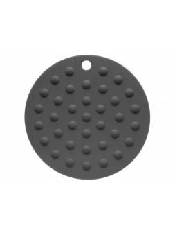 Коврик под горячее силиконовый, круглый, 17.5 х 0.2 см, GRAPHITE, PERFECTO LINEA
