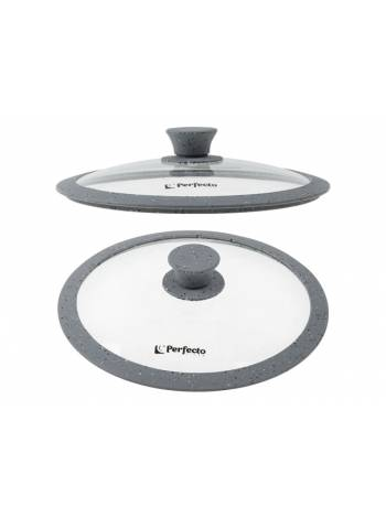 Крышка стеклянная, 240 мм, с силиконовым ободом, круглая, Handy Plus (Хенди Плюс), PERFECTO LINEA
