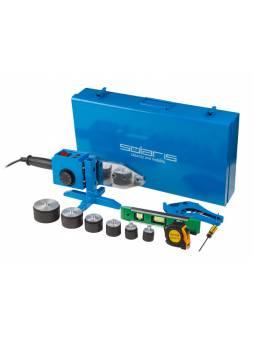 Сварочный аппарат для полимерных труб Solaris PW-1502 (1500 Вт; 6 насадок: 20 - 63 мм; 2 режима нагрева; доп.аксессуары)