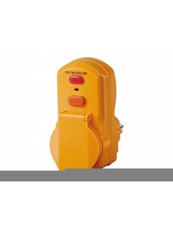 Розетка с вилкой переносная с УЗО (с/з, 16А, 230В) Brennenstuhl (IP54, с защитой от пыли и брызг, оснащена устройством защитного отключения)