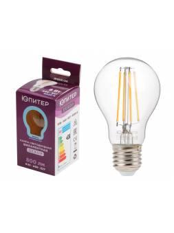Лампа светодиодная A60 СТАНДАРТ 8 Вт 220-240В E27 4000К ЮПИТЕР ДЕКОР (75 Вт аналог лампы накал., 800Лм)