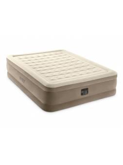 Надувная кровать Queen Ultra Plush, 152х203х46 см, встр. электрич. насос, INTEX