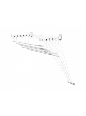 Сушилка для белья стеновая стальная 1,6 м, 6 стержней, белая, PERFECTO LINEA (6 стержней)