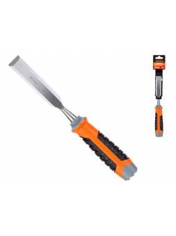 Стамеска плоская 22мм STARTUL PROFI (ST4075-22) (обрезиненная рукоятка, металлический затыльник)