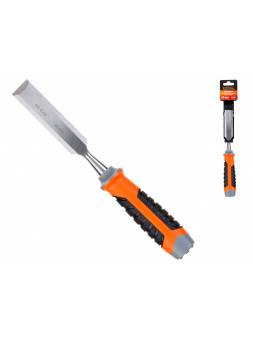 Стамеска плоская 24мм STARTUL PROFI (ST4075-24) (обрезиненная рукоятка, металлический затыльник)
