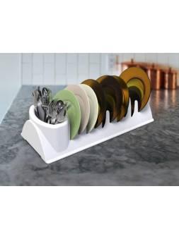 Сушилка для посуды Krita (Крита), снежно-белый, BEROSSI (Изделие из пластмассы. Размер 341 х 148 х 88 мм)