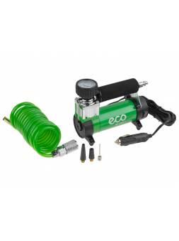 Компрессор автомобильный ECO AE-016-1 (12 В, 150 Вт, 40 л/мин, 10 бар (манометр 7 бар), съемный спир. шланг, сумка)