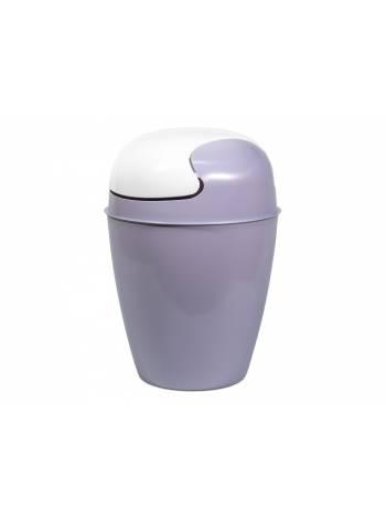 Ведро с качелькой (мусорное) Krita, сиреневый туман, BEROSSI (Изделие из пластмассы. Литраж 8 литров)