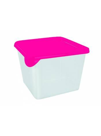 Емкость для хранения и заморозки продуктов Браво, квадратная, 0,75 л, GIARETTI (цвета в ассортименте)