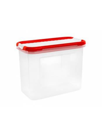 Емкость для сыпучих продуктов с дозатором Bono 1 л, сочный томат, GIARETTI (172х88х133 мм)