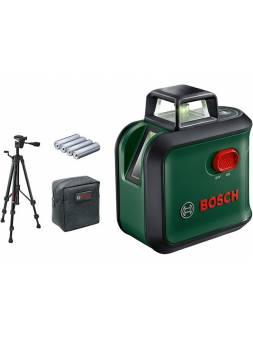 Нивелир лазерный линейный BOSCH Advanced Level 360 Set со штативом в кор. (проекция: крест, до 24 м, +/- 0.40 мм/м, резьба 1/4