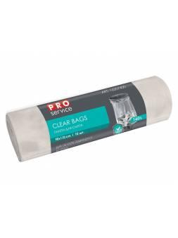 Пакеты для мусора CLEAR BAGS, 160 л, 10 шт., прозрачные, PROservice (для проф. использования в промышл. объетах и объектах с высокими требованиями к к