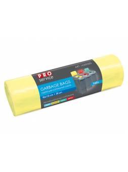 Пакеты для мусора для сортировки (Пластик), 160 л, 10 шт., желтые, PROservice (для проф. использования в промышл. объетах и объектах с высокими требов