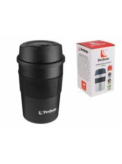 Термокружка для кофе, 380 мл, нержавеющая сталь, black, PERFECTO LINEA (в индивидуальной упаковке)