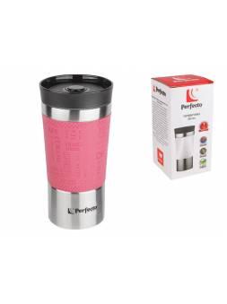 Термокружка, 380 мл, нержавеющая сталь, pink, PERFECTO LINEA (в индивидуальной упаковке)