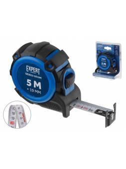Рулетка  5м/19мм EXPERT STARTUL (SE3012-0519M) (Двухсторонняя шкала нанесения, нейлоновое покрытие,   магнитный обрезиненный двухсторонний зацеп)