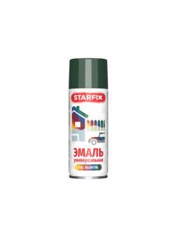 Краска-эмаль аэроз. универсальная зеленый темный STARFIX 520мл (6009) (Пихтовый зеленый, глянцевая)