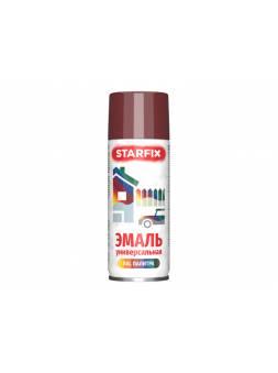Краска-эмаль аэроз. универсальная вишневый STARFIX 520мл (3004) (Пурпурно-красный, глянцевая)