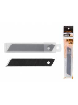 Лезвия сменные сегментированные 18мм 10шт BLACK LINE STARTUL (ST0920-18) (лезвие для ножа   7 сегментов)