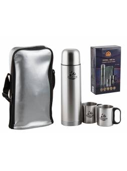 Термос 1л + 2 кружки 220 мл; сумка, (набор в сумке), ARIZONE