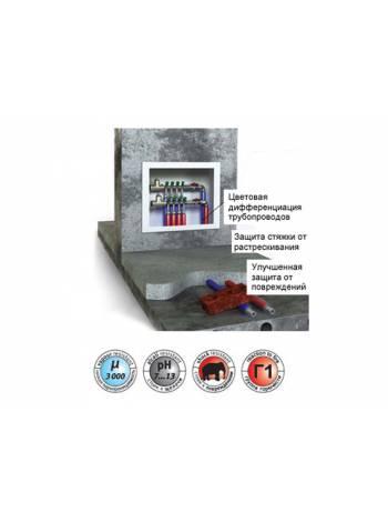 Теплоизоляция для труб ENERGOFLEX SUPER PROTECT красная 22/6-2 м