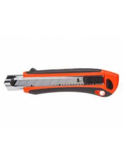Нож пистолетный с выдвижным лезвием 25мм + 3 лезвия STARTUL PROFI (ST0927) (ABS + TPR покрытие корпуса   3 лезвия в комплекте)