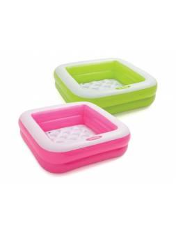 Надувной детский бассейн Play Box, 86х86х25 см, INTEX (для детей от 1 до 3 лет)