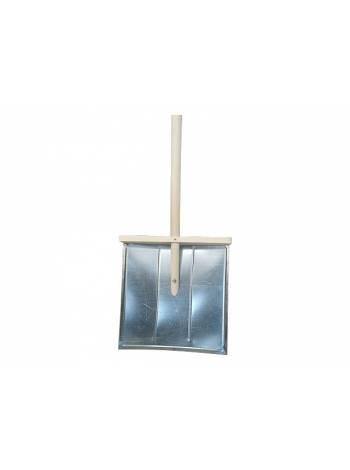 Лопата снегоуборочная 396х398мм (оцинк.сталь) (ЯМПОЛЬ)