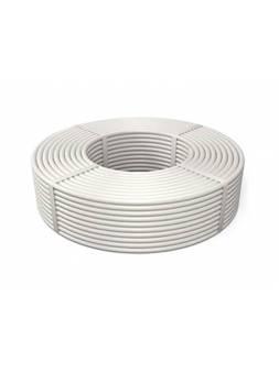 Труба металлополимерная PP-R/AL/PP-R для теплого пола PN25 100м белая, LD FORS