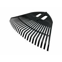 Грабли веерные пластмассовые без черенка 500 мм черные (ИнструмАгро)
