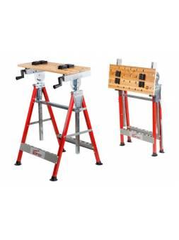 Верстак складной WORTEX WB 6012 (60,5X54X(86-127) см, регулировка столешницы 0-90°, регулировка высоты столешницы, бамбуковое осно)